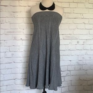 High waisted Ribbed Sweater Knit A Line Skirt